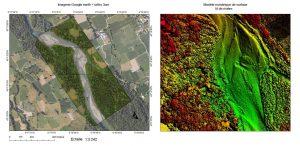 Cartographie et photogrammétrie par drone d'un cours d'eau