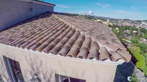 Inspection de toiture par drone
