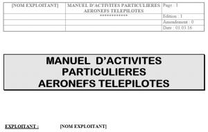 Manuel d'activités particulières aéronefs télépilotes