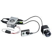 Aerial Thermography system pi light weight go pro