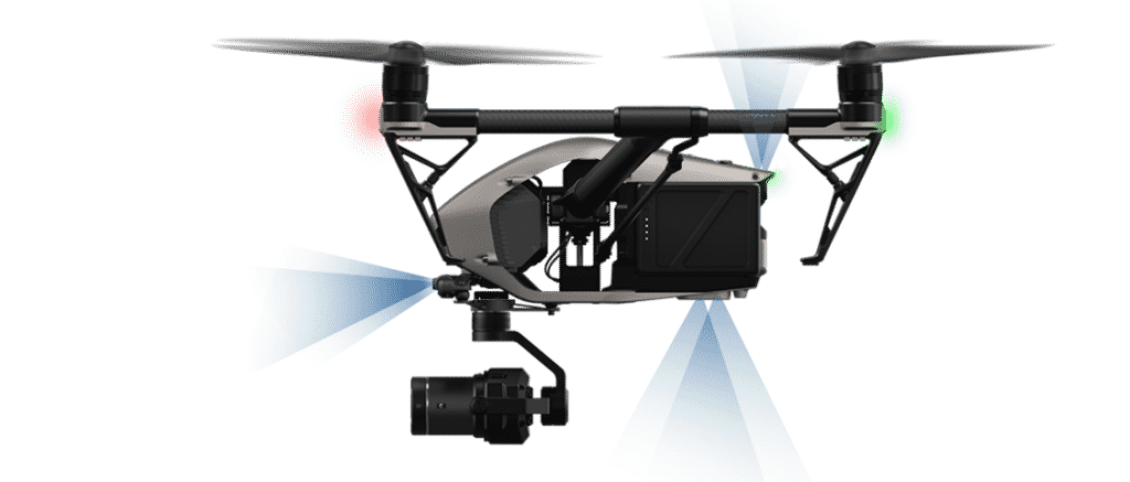 dji inspire 2 détection d'obstacles