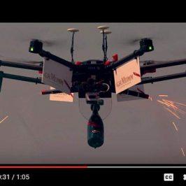 Drone livraison Champagne pour Mumm
