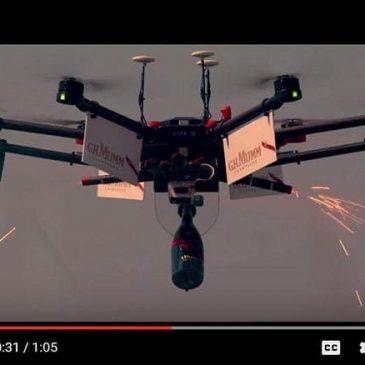 drone mumm champagne