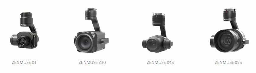 caméras et stabilisateur de la marque DJI