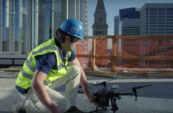 Dji Matrice 200 inspection de chantier