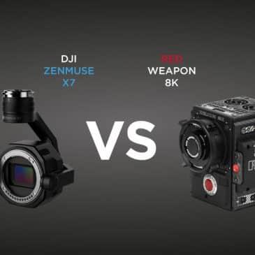 DJI Zenmuse X7 vs RED Weapon 8k