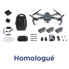DJI Mavic pro combo fly more homologué S1-S2-S3 DGAC