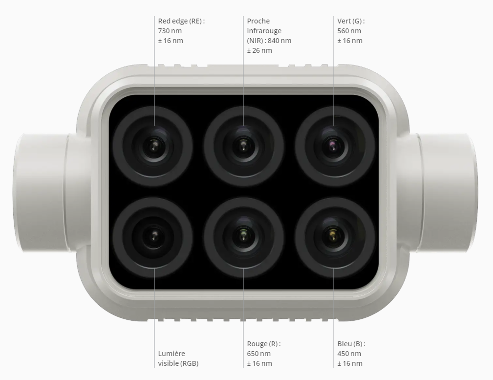 DJI P4 Multispectral camera 5 bandes