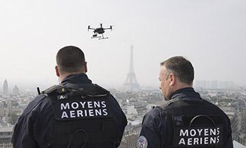 maintien de l'ordre securite surveillance drone
