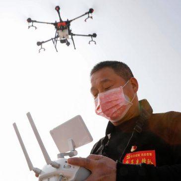 desinfection par drone agras coronavirus