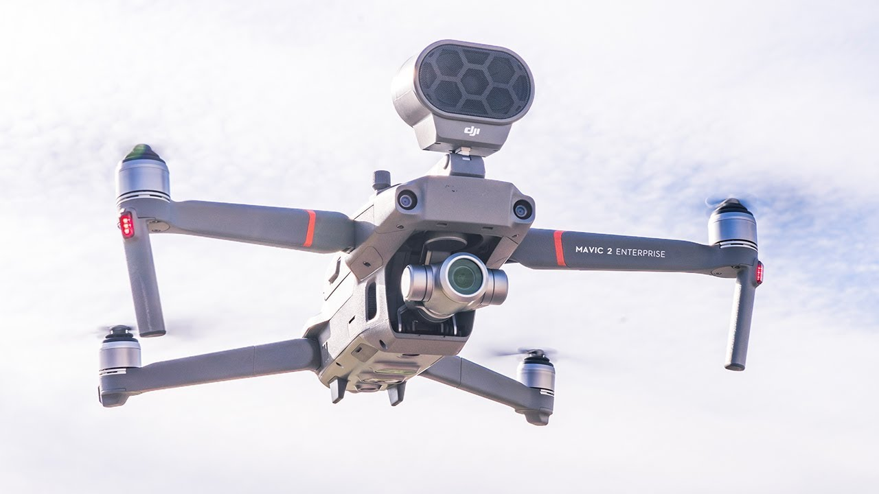 drone dji haut parleur