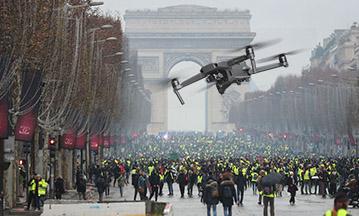 maintien de l'ordre - drone