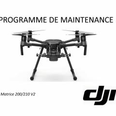 Programme de maintenance DJI M200/210 V2