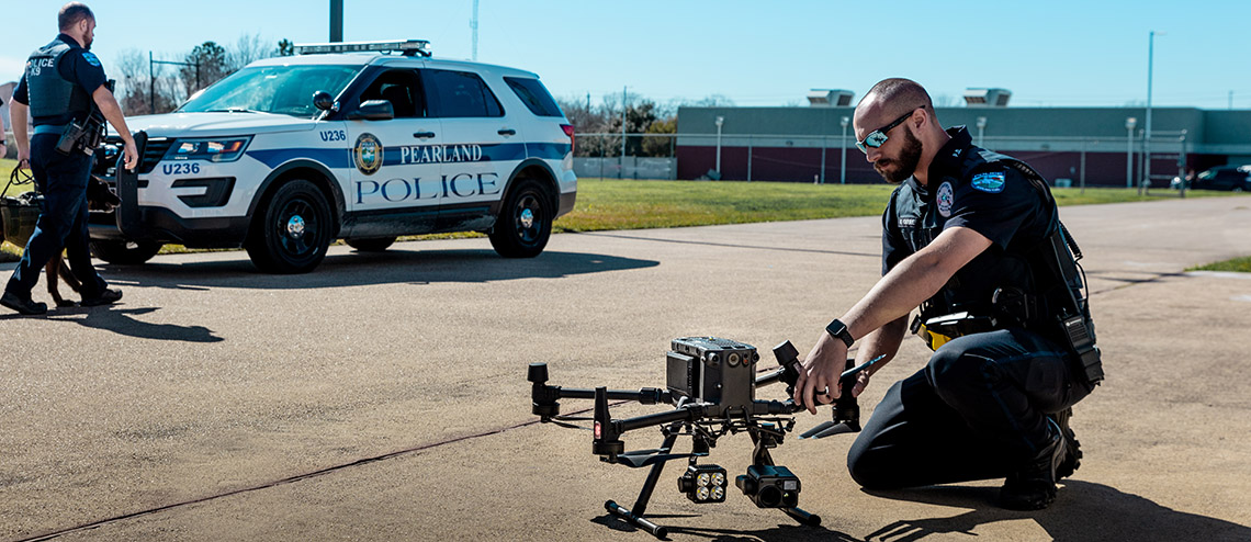 Drone mission Police