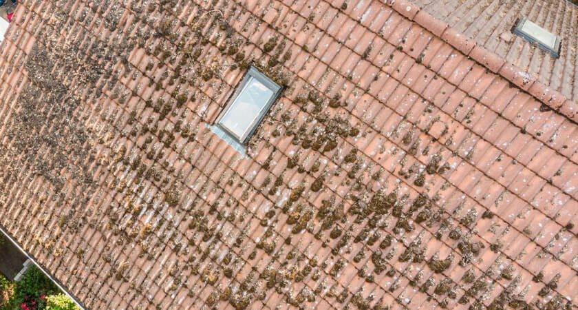 Inspection des toits par drone